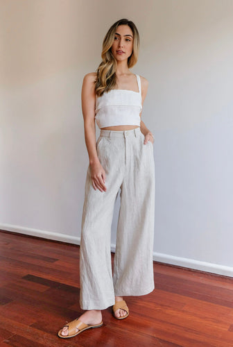 AULIEUDE FRANKIE OAT HIGH WAISTED PANTS