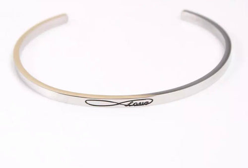 ETERNITY/INFINITY BANGLE- SILVER/ ROSE