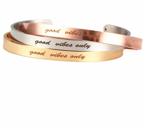 GOOD VIBES ONLY- INSPIRATION BANGLES