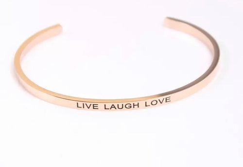 """LIVE LAUGH LOVE"" INSPIRATION BANGLE"
