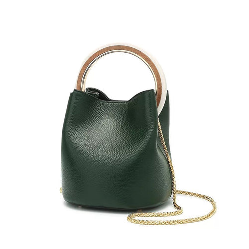 ZARA- LEATHER BUCKET BAG- 3 colours