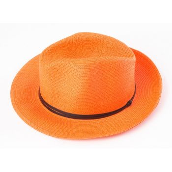 BORSALINO- ORANGE NATURAL PAPER HAT