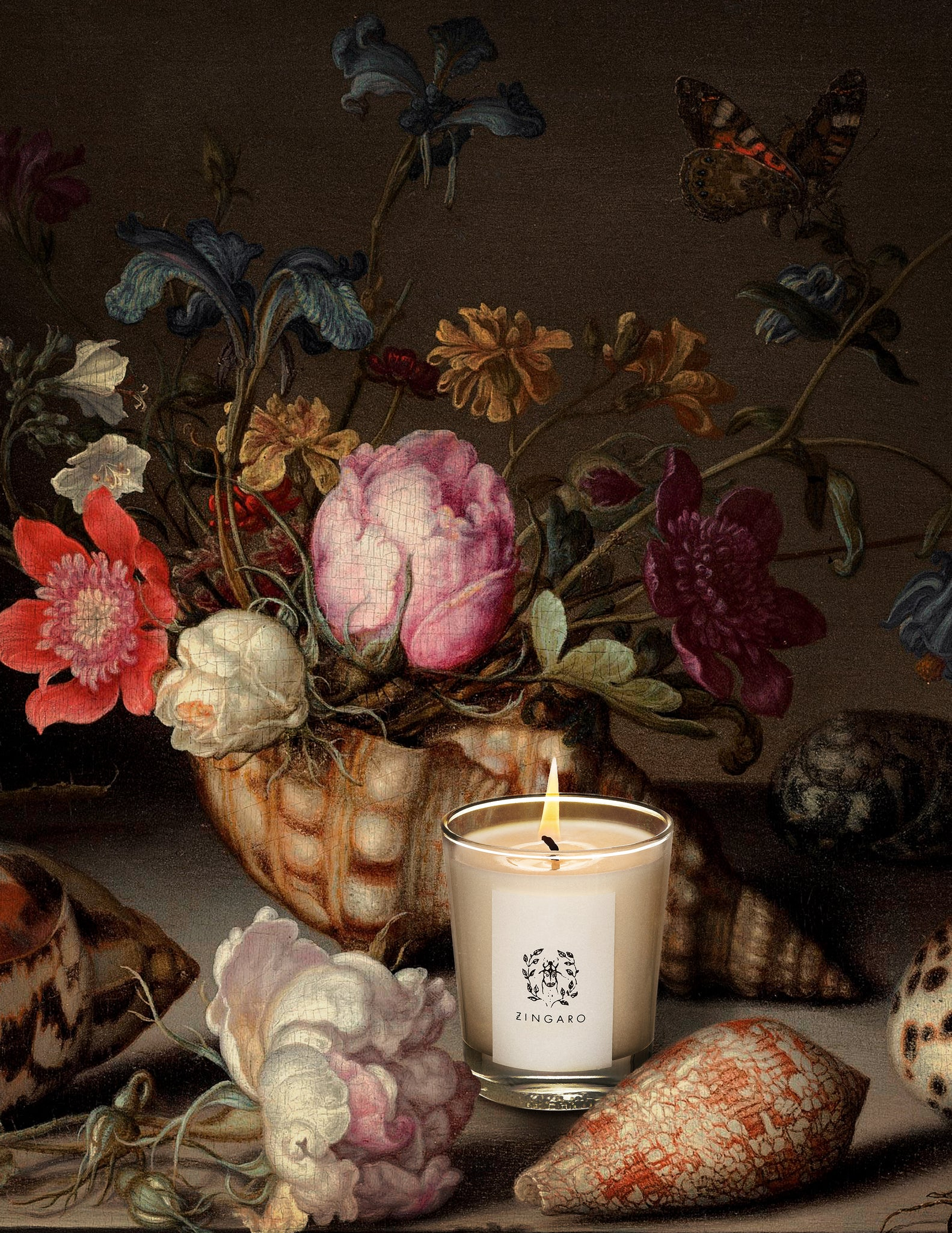 Nuit Noir Flora Collection Candle