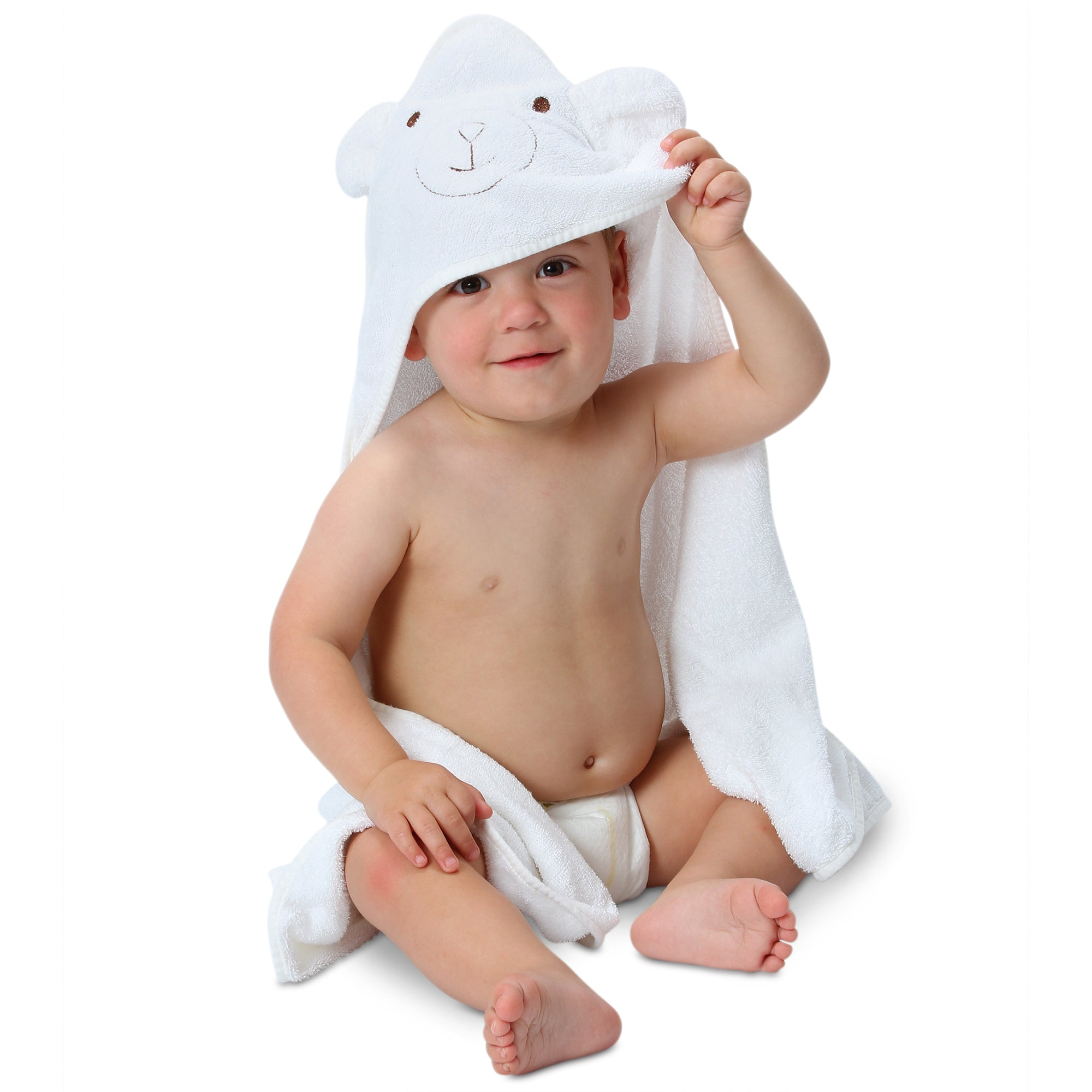 Organic Bamboo Hooded Bear Baby Towel
