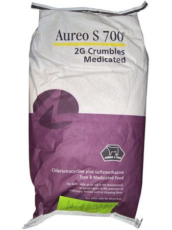 AUREO S 700® 2G Crumbles (Medicated Feed) 50 Lb Bag