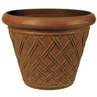 Arcadia Basket Weave Pot Chocolate
