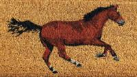 Entrance Mat Galloping Horses