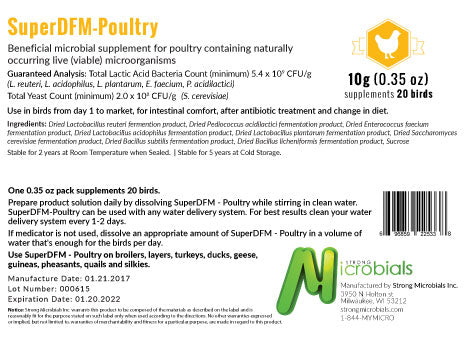 Super DFM-Poultry (Probiotic) 1.1 Lb Bag More sizes