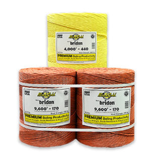 Baling Twine (Bridon Twine) small square 9000' 130 knot single ball
