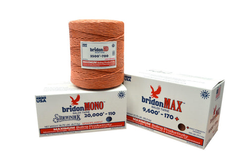 Baling Twine (Bridon Max) small square 9000' 130 knot double ball