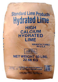Hydrated Lime 50 Lb bags