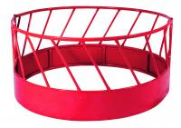 Hay Feeder Red 2-piece W/solid Bottom