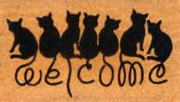 Entrance Mat Welcome Cats