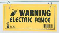 WARNING SIGN ELECTRIC FENCE 3/BAG DARE