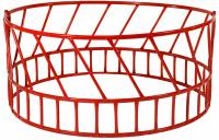 Hay Feeder Red 2-pc W/open Bottom 14 Gallon