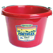 Red Poly 8 Quart Calf/Utility Bucket (More colors Available)