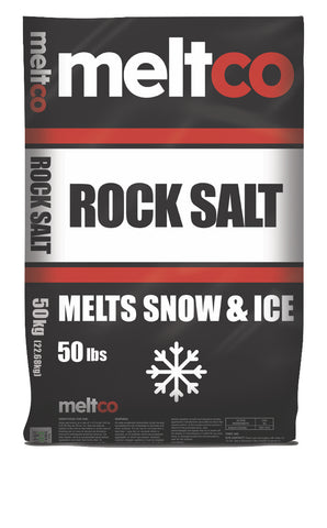 MeltCo Rock Salt 50 Lb Bag (Ice Melt) Full truck Load 20 pallets