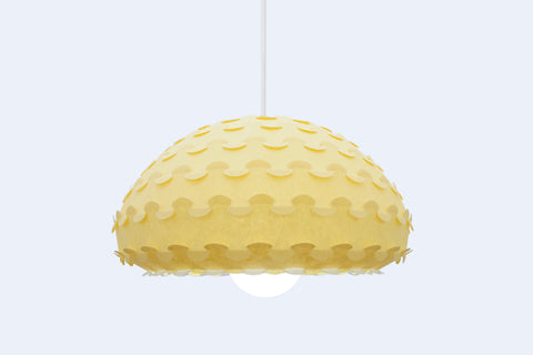 Bright Yellow Pendant Light from Kasa Lighting Collection by 24d-studio