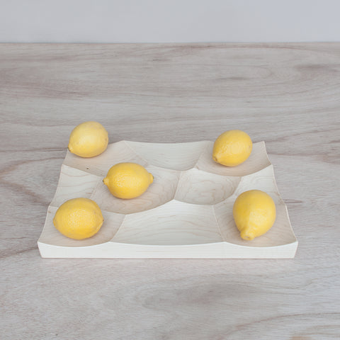 large wood tray in maple wood, Storm L by 24d-studio