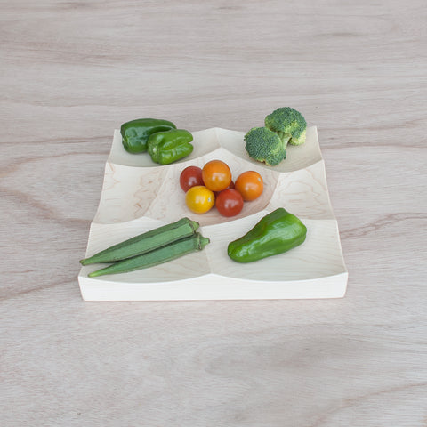 small wood tray from hard maple, Storm S by 24d-studio