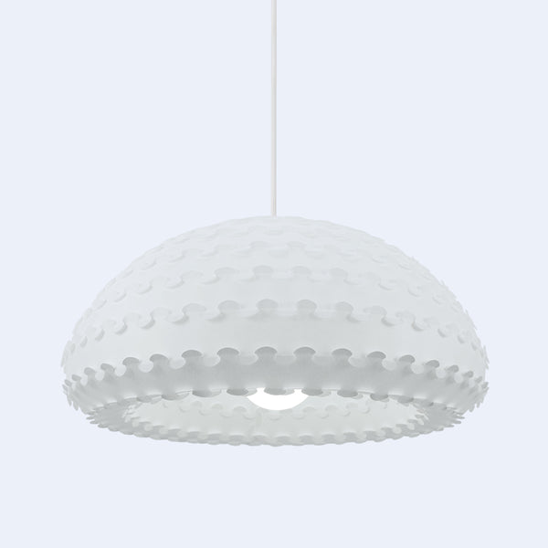 White Contemporary Paper Lampshade Kasa Ceiling Lamp by 24d-studio