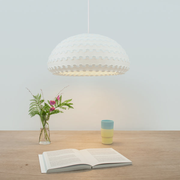 Large Paper Pendant Lamp over dining table Kasa Pendant by 24d-studio