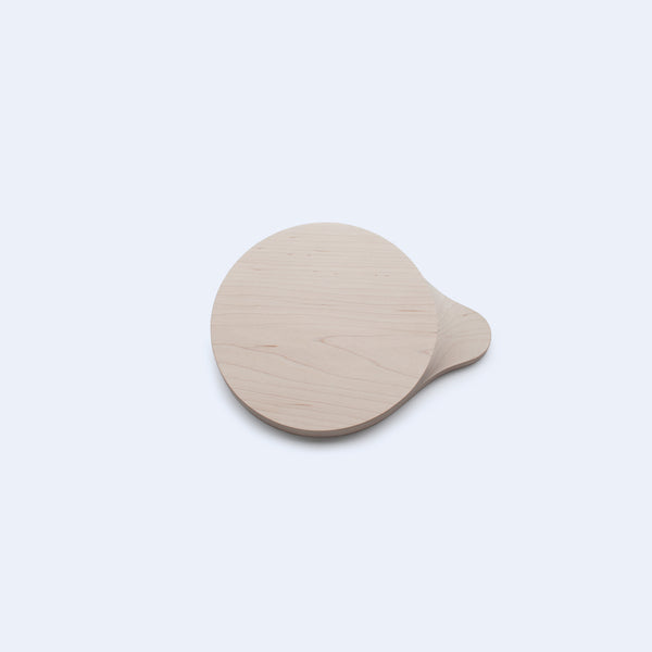 small wood round cutting board and tray from hard maple by 24d-studio