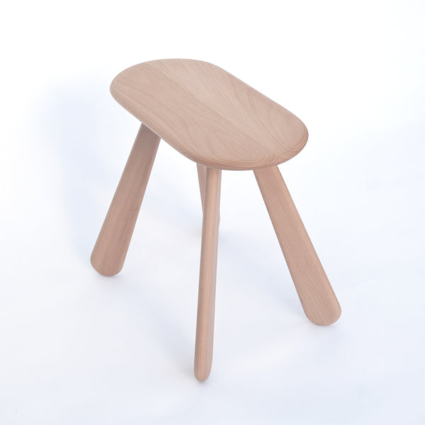soft oval outline wood stool, Atlas made by 24d-studio