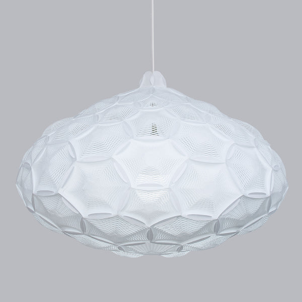 White cloud lamp shade made with laminated rice paper, Airy made by 24d-studio