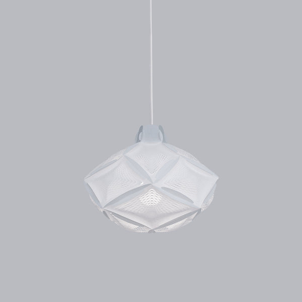 small white geometric ceiling lamp Airy RI20 by 24d-studio