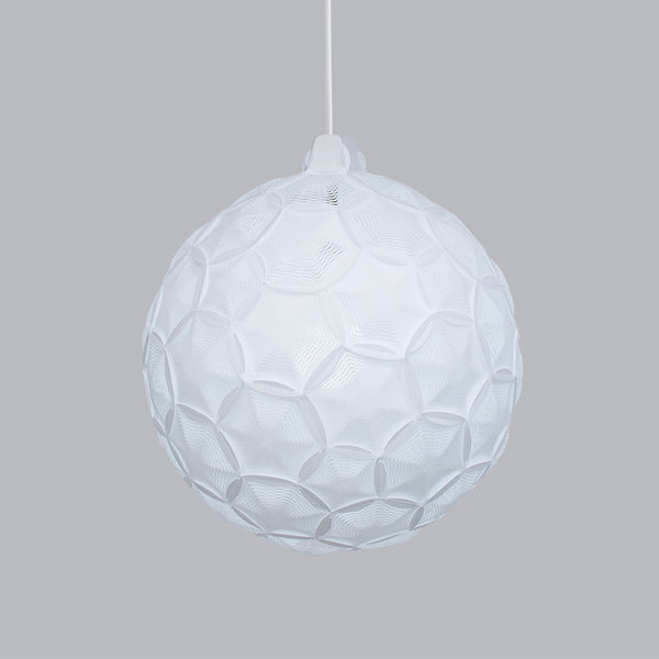 geomwtric sphere ceiling light Airy Sp made from washi paper by 24d-studio