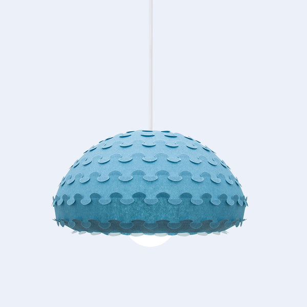 Midnight blue pendant shade made in japan from laminated and durable rice paper by 24d-studio