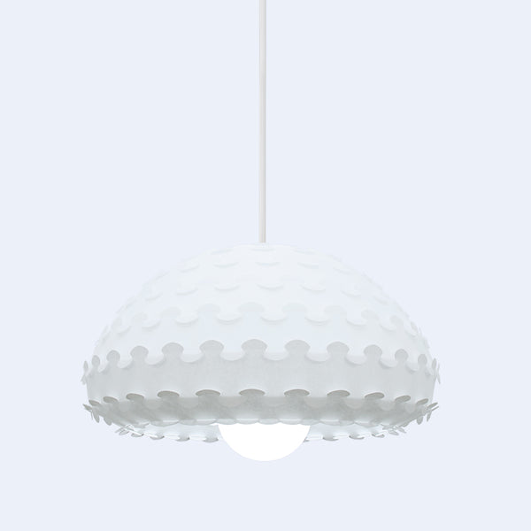 white washi paper lamp shade Kasa W by 24d-studio made in Japan