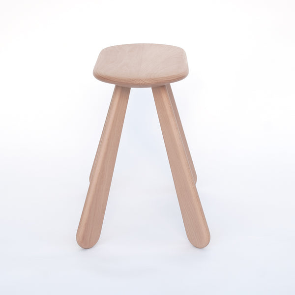 simple bench with the maximum level of comfort made from natural wood material in Japan, Atlas Stool
