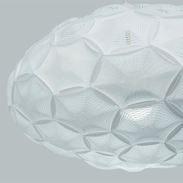 detail of Airy shade hexagonal panels made with washi paper by 24d-studio