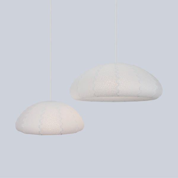 Small and Large Laminated rice paper lamp shades Puff made in Japan by 24d-studio