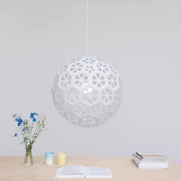 Large Sphere ceiling lamp Flower Ball made with laminated washi paper in Japan