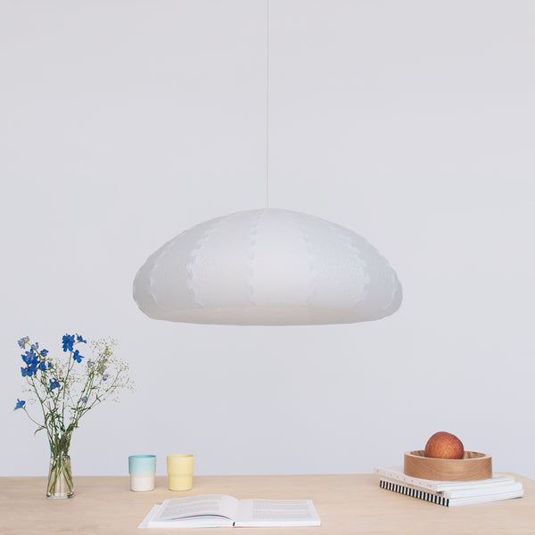 Large bell shaped pendant light Puff made by 24d-studio
