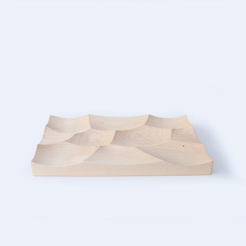 large Storm maple wood tray made by 24d-studio