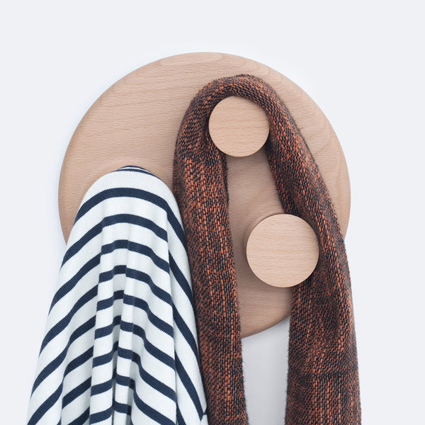 large solid wood wall hanger, Orbit Large