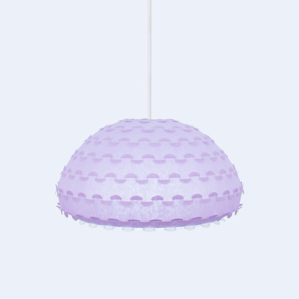 Dome shaped pastel lavender Kasa ceiling lamp made in Japan by 24d-studio