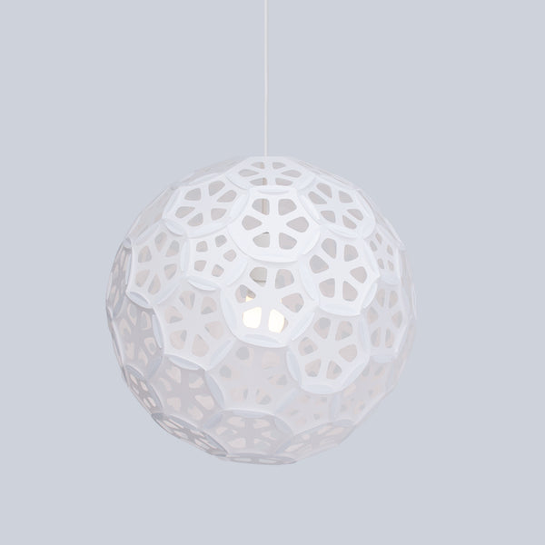 Mid-size sphere pendant light Flower Ball inspired by flower petals