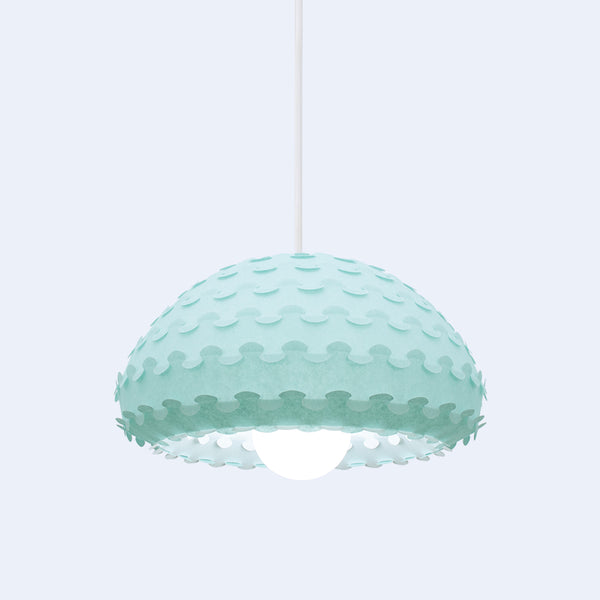 mint green dome pendant light Kasa by 24d-studio