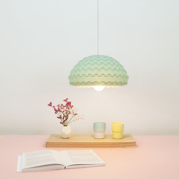 mint green and white mini pendant light by 24d-studio from Japan