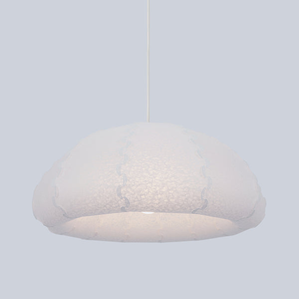 Small dome shaped ceiling lamp Puff made from laminated washi paper by 24d-studio