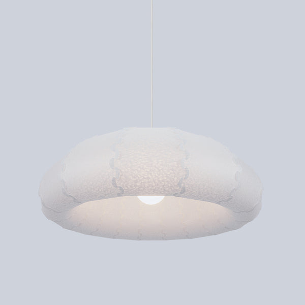 Very large dome shaped ceiling light from laminated washi made by 24d-studio in Japan