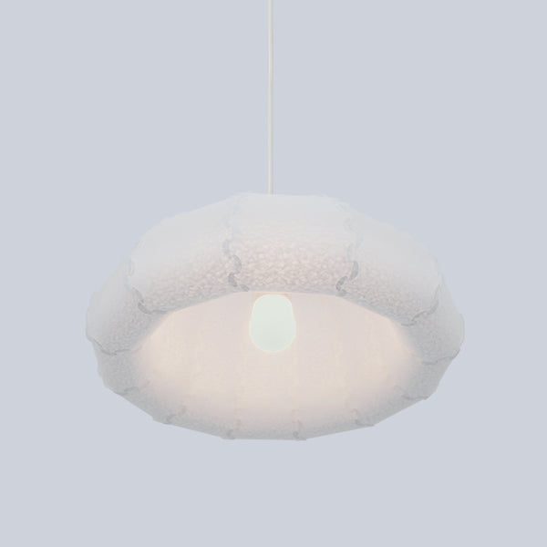 Washi paper bell suspension lamp Puff made by 24d-studio in Japan