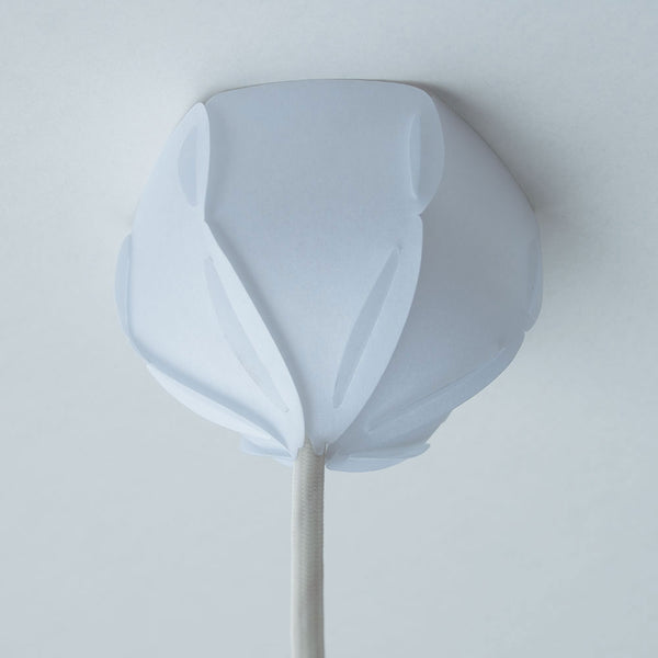 white ceiling cap made with laminated rice paper
