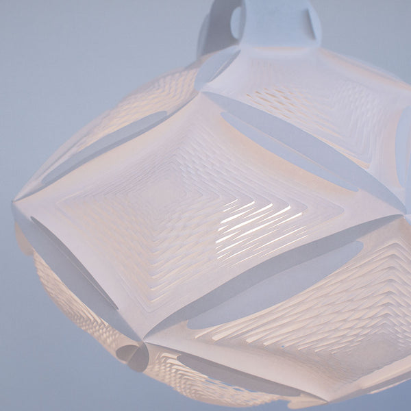 Airy Geometric lamps are inspired by Japanese chochin lanterns made by 24d-studio