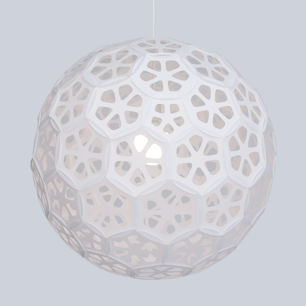 Very Large Sphere Pendant Lamp inspired by cherry blossoms Flower Ball L made by 24d-studio in Japan